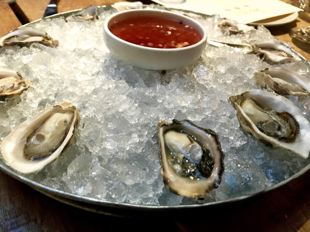 Fresh oysters at The Mar Vista Restaurant