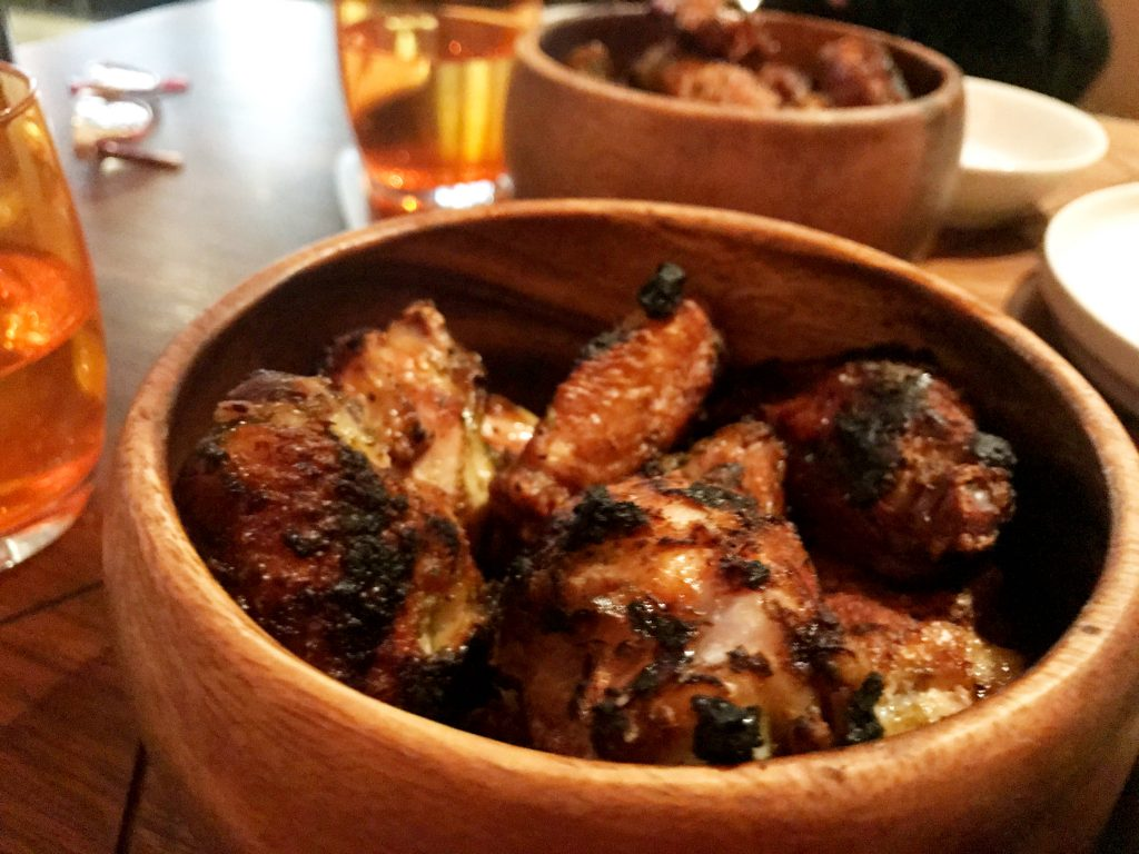 Chicken wings at Charcoal Venice