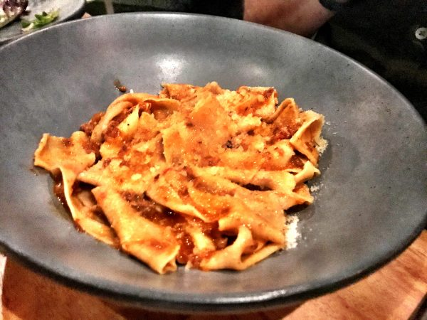 Papardelle with meat ragu at AR Cucina Culver City