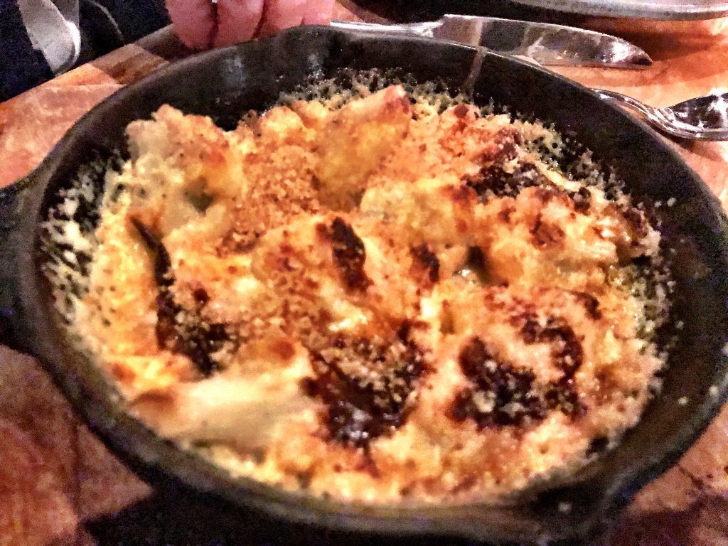 Cheesy cauliflower at AR Cucina Culver City
