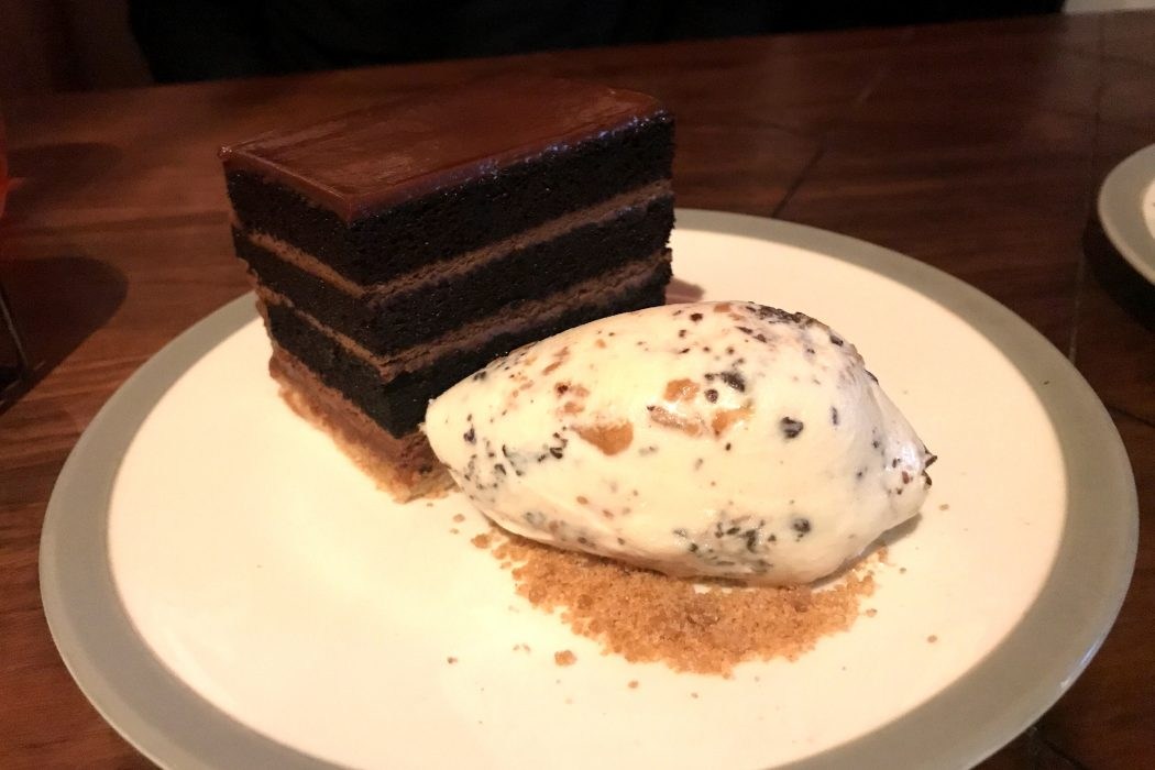 Amazing Chocolate PB Cake at Charcoal Venice