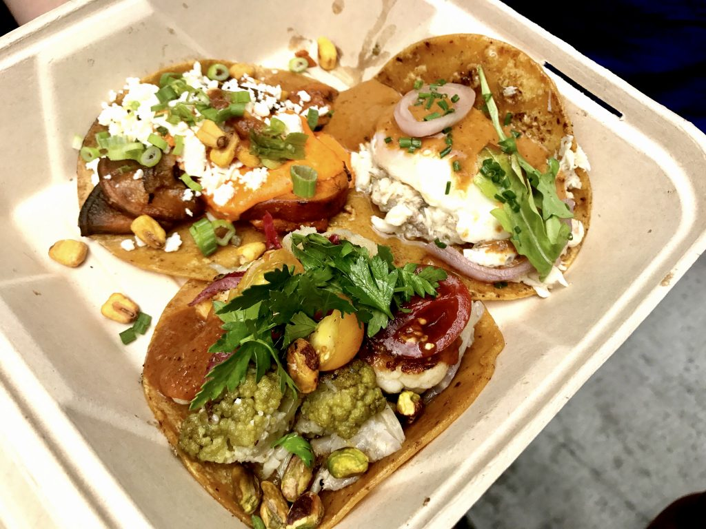 tacos from Guerrilla Tacos LA
