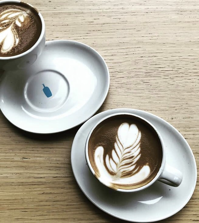 Delicious coffee at Blue Bottle Los Angeles