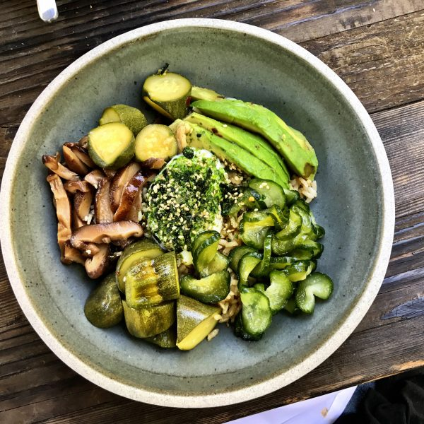 Japanese breakfast bowl at Hayden Wine Bar Culver City