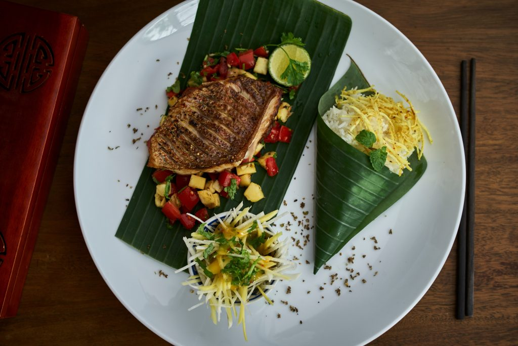 Super tasty red snapper at Mango Mango Hoi An