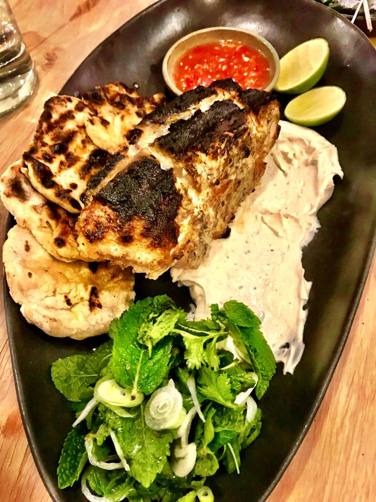 Massive grilled fish at Rovi London