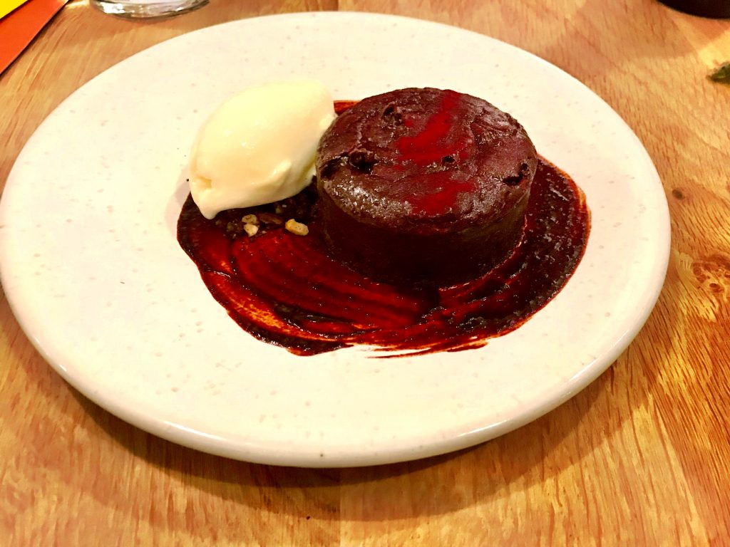 Beet and chocolate cake at Rovi London