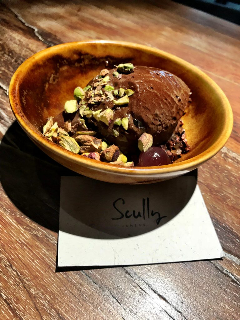 Great chocolate dessert at Scully Restaurant London