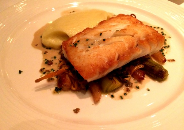 Roast cod with truffle mash at Chez Bruce London