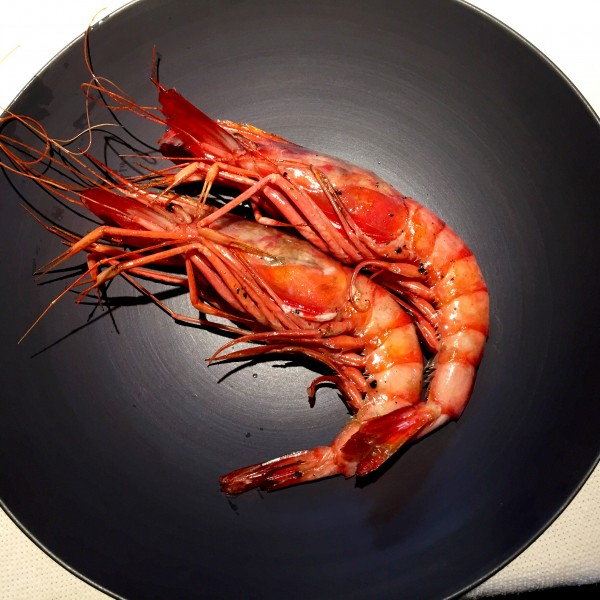 The most gorgeous prawns at Asador Etxebarri