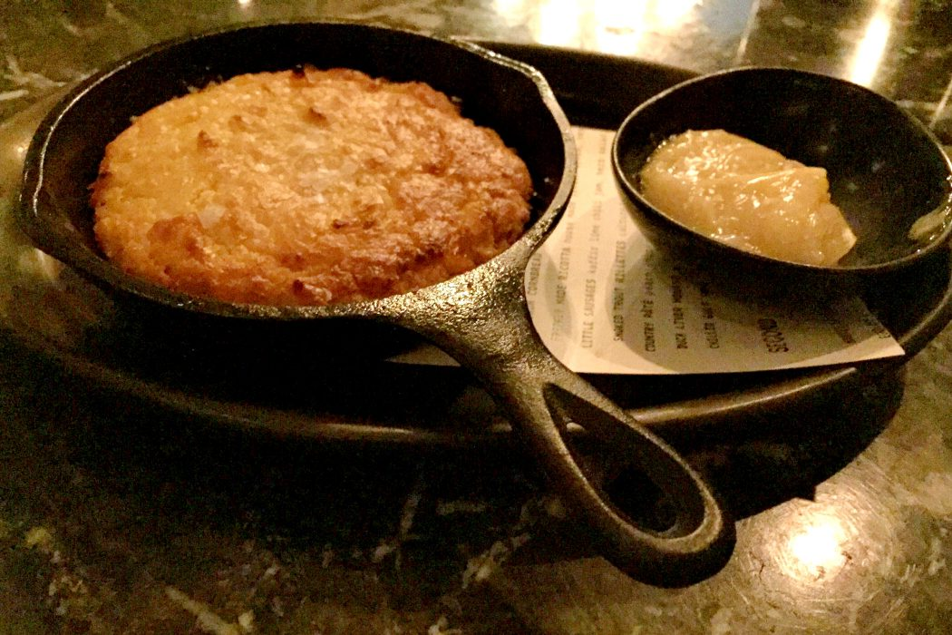 Absolutely delicious cornbread at Norah restaurant Los Angeles